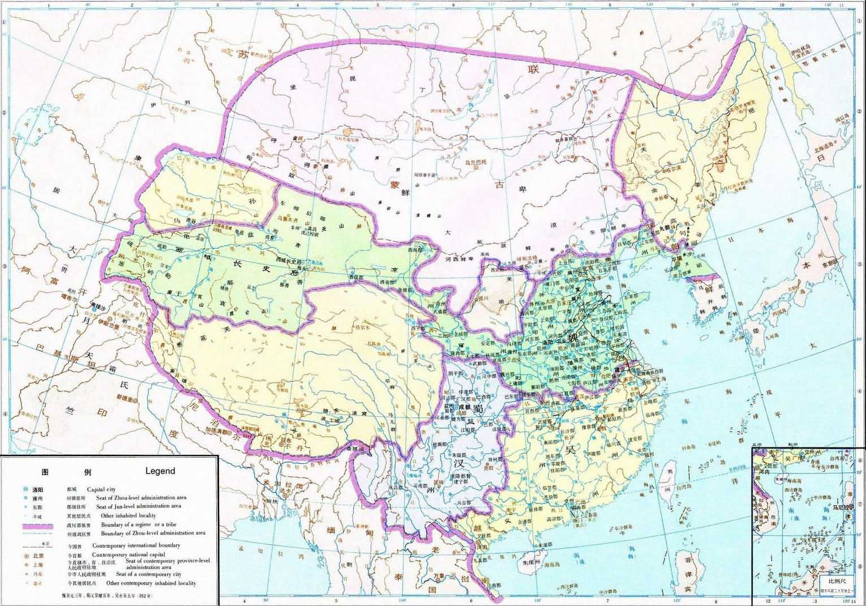 中国历史地图集 第三册 1 三国图组 中国历史地图集 国学导航
